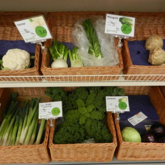 Gesundes und frisches Gemüse ...
