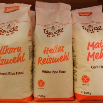 Sie finden die verschiedensten glutenfreien Mehlsorten
